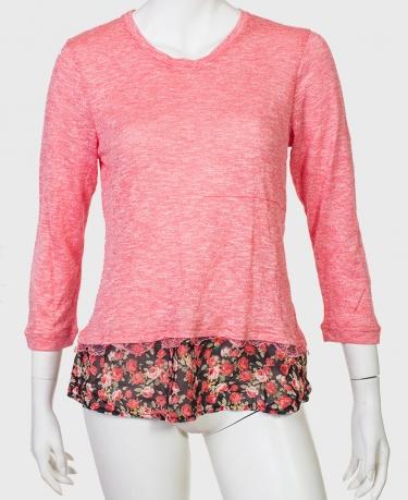 Нежно-розовая кофточка-туника Paco Boutique