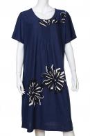 Нежное платье цвета синевы с цветочным принтом