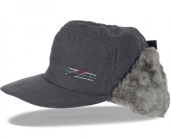Новомодная мужская шапка с козырьком и меховыми ушами. Покупай и твой новый образ отныне будет всегда стильным. Не переплачивайте!
