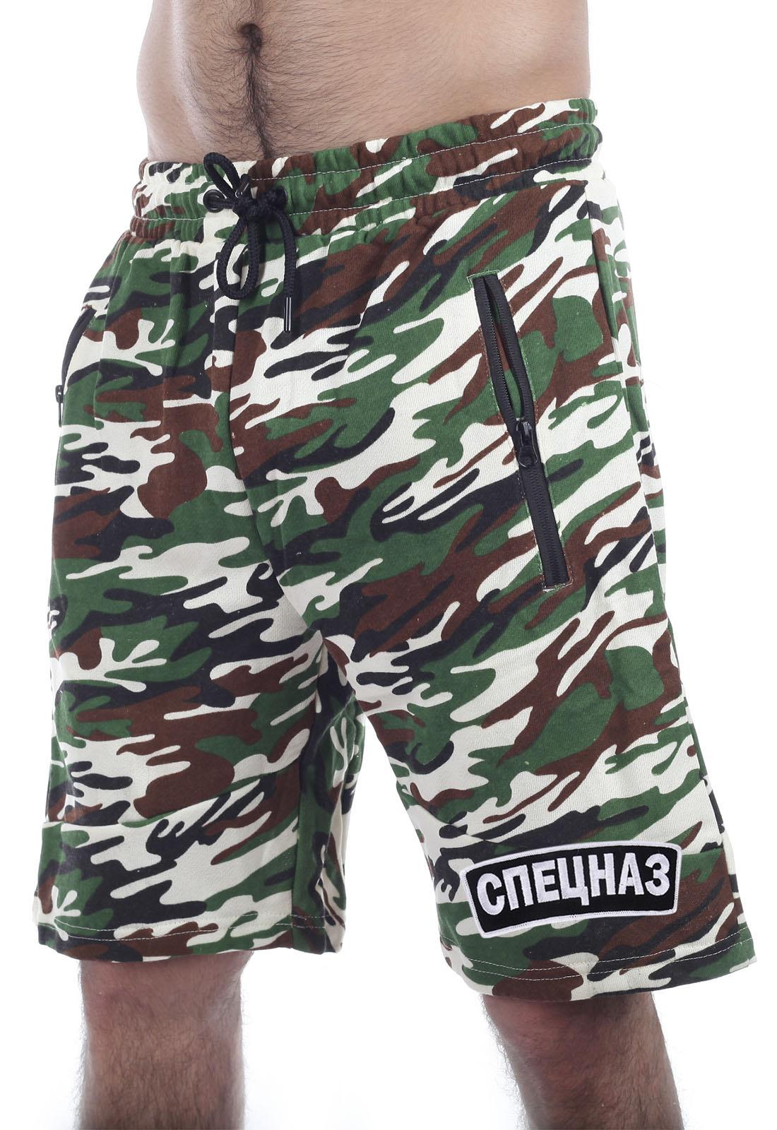 Купить мужские шорты с эффектной вышивкой Спецназ