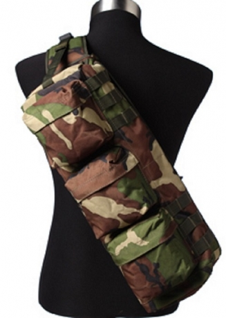 Однолямочный тактический рюкзак камуфляж Woodland