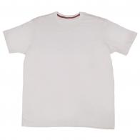 Однотонная футболка белого цвета. 100% хлопок, удобная модель