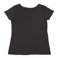 Однотонная футболка для девушки. Практичная и аккуратная