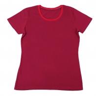Однотонная футболка для спорта и отдыха. Яркий цвет, удобная модель