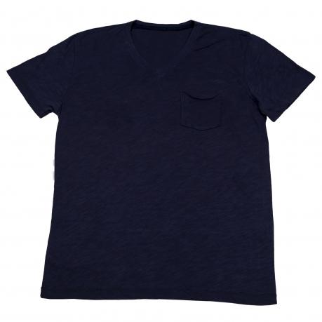 Однотонная мужская футболка в спортивном стиле. Материал - 100% хлопок