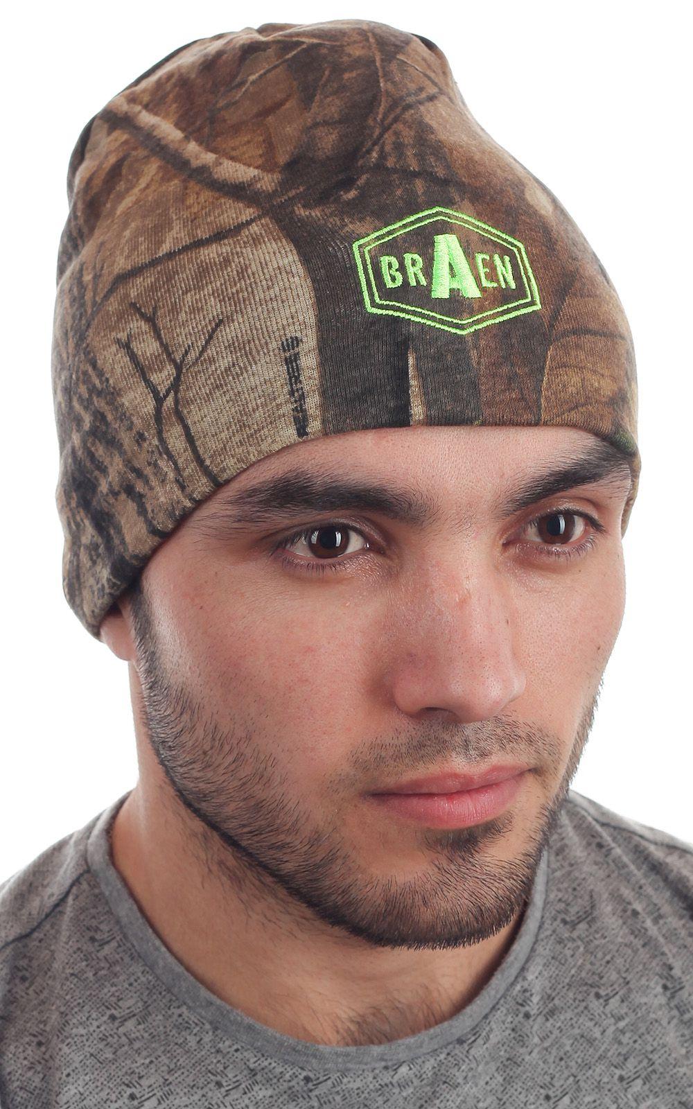 Стильная мужская вязаная шапка Braen