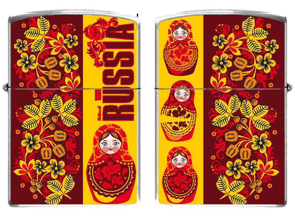 Бензиновая зажигалка в русском стиле