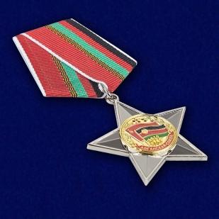 Орден Афганская слава в нарядном футляре с покрытием из бархатистого флока - общий вид