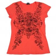 Оригинальная футболка для девушки. Мягкий материал, яркий цвет