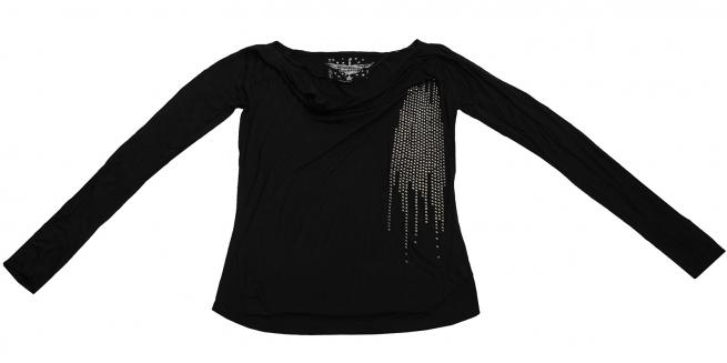Оригинальная кофточка Rock&Roll CowGirl черного цвета с серебристой отделкой