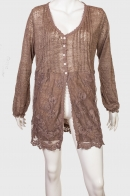 Оригинальная женская кофточка-туника с кружевами от Cassis Colleclion