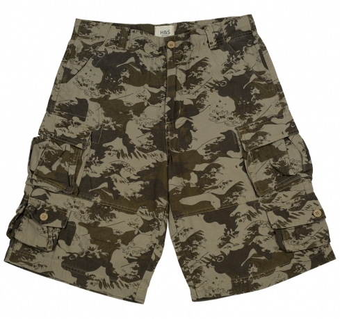 Оригинальные мужские шорты His. Безупречная модель для отдыха и туризма