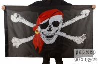 "Пиратский флаг ""Роджер"" на сетке"