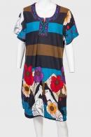 Неординарное платье Style Modele с фольклорным орнаментом и этно вышивкой.