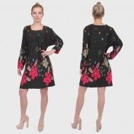 Модная БОМБА! Женственное платье YORC с цветочным хаосом.