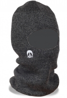 Плотная трикотажная меланжевая балаклава универсальный головной убор для наших клиентов – это и шапка и полумаска и теплый шарф