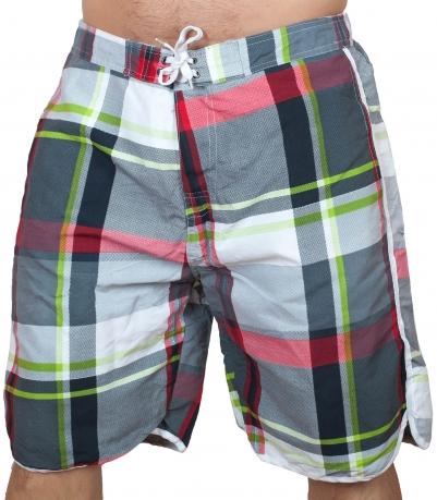 Пляжные клетчатые шорты для мужчин