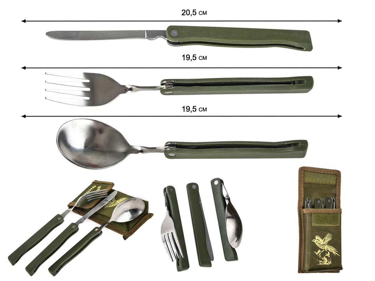 Заказать в интернет магазине походную ложку, вилку, нож
