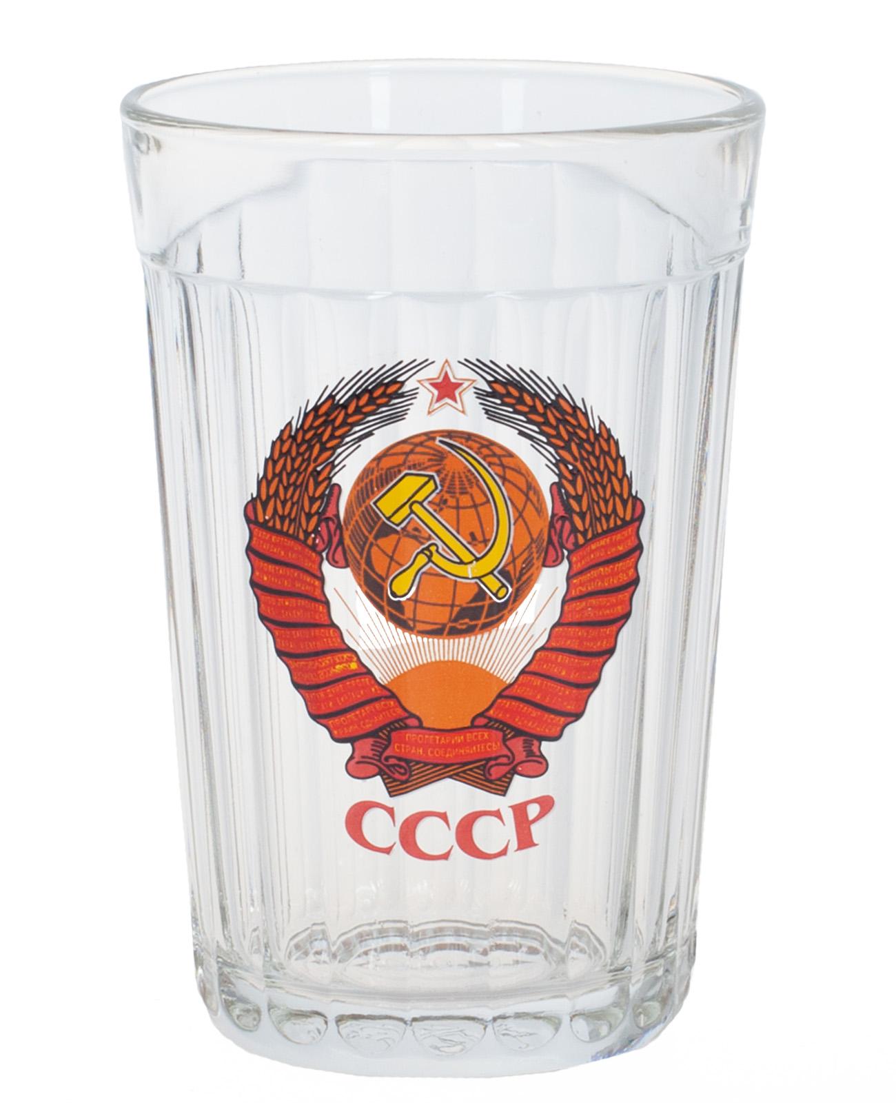"""Выгодно купить подарочный стакан """"СССР"""" в Военпро"""