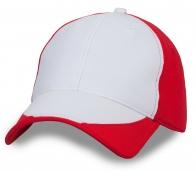 Красно-белая бейсболка