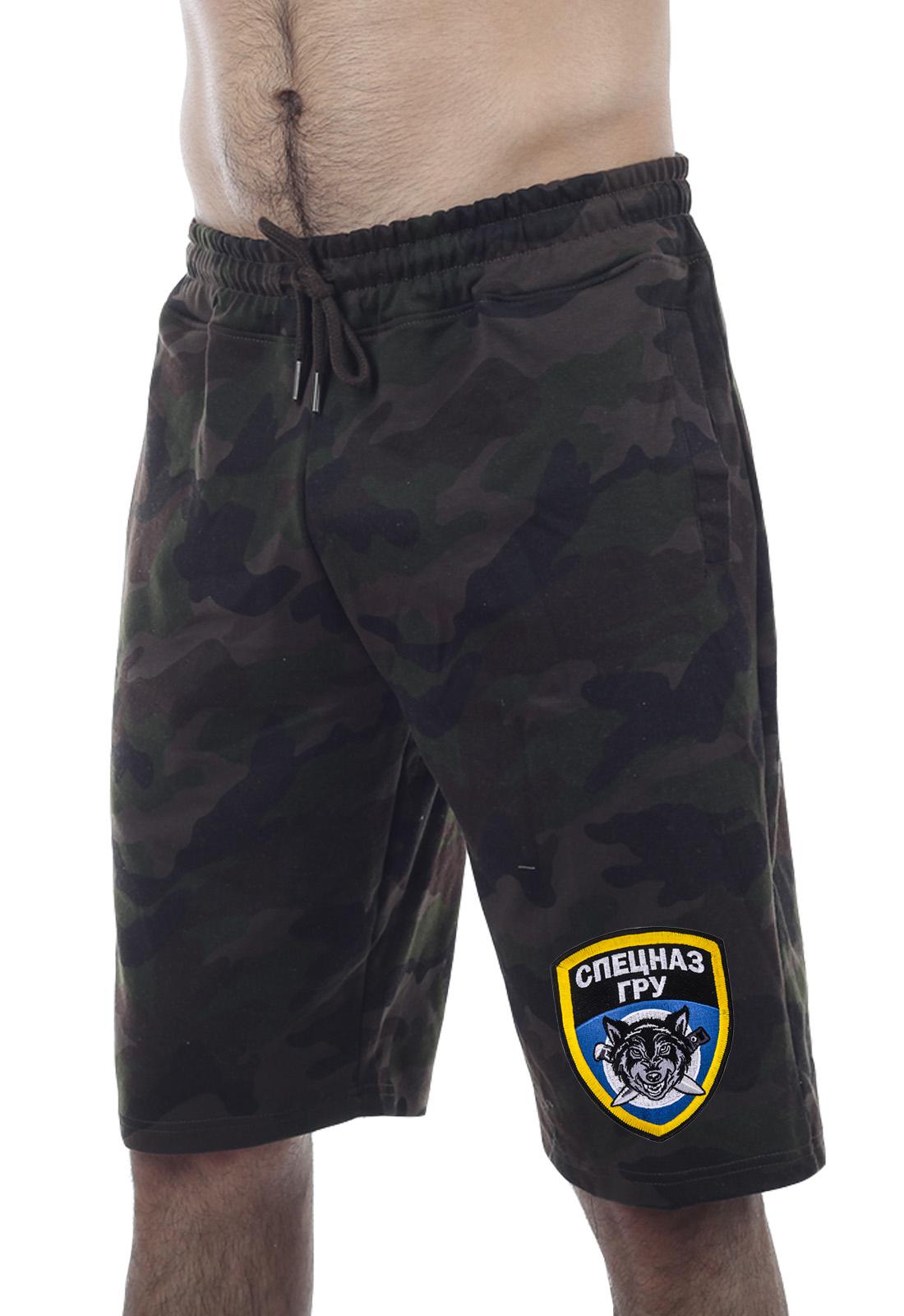 Военные мужские шорты с вышивкой Спецназа ГРУ