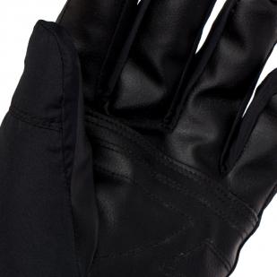 Полнопалые тактические перчатки с кожаной вставкой