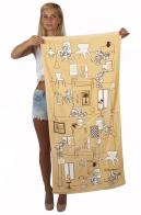 Прикольное пляжное полотенце с весёлой парочкой – Микки и Минни Маус.