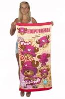 Детское пляжное полотенце Оленёнок Чоппер