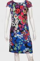 Полуприлегающее платье с коротким рукавом от Longbao