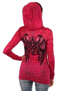 Сексуальная полупрозрачная туника с капюшоном и ангельскими крыльями. Твой стилевой ориентир от дизайнеров Rock and Roll Cowgirl