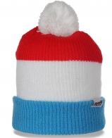 Помпезная брендовая женская шапка с отворотом от Neff ценителям качества молодежная модель