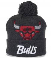 Популярная мужская шапка Chicago Bulls. Оригинальная модель, которая всегда актуальна