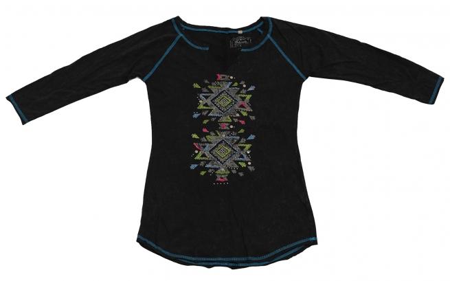 Повседневная удобная туника бренда Panhandle с мексиканским орнаментом