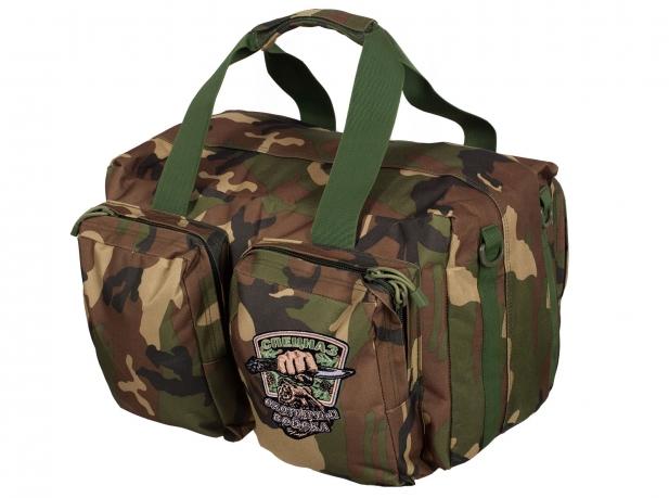 Практичная дорожная сумка-рюкзак с шевроном Охотничьего спецназа