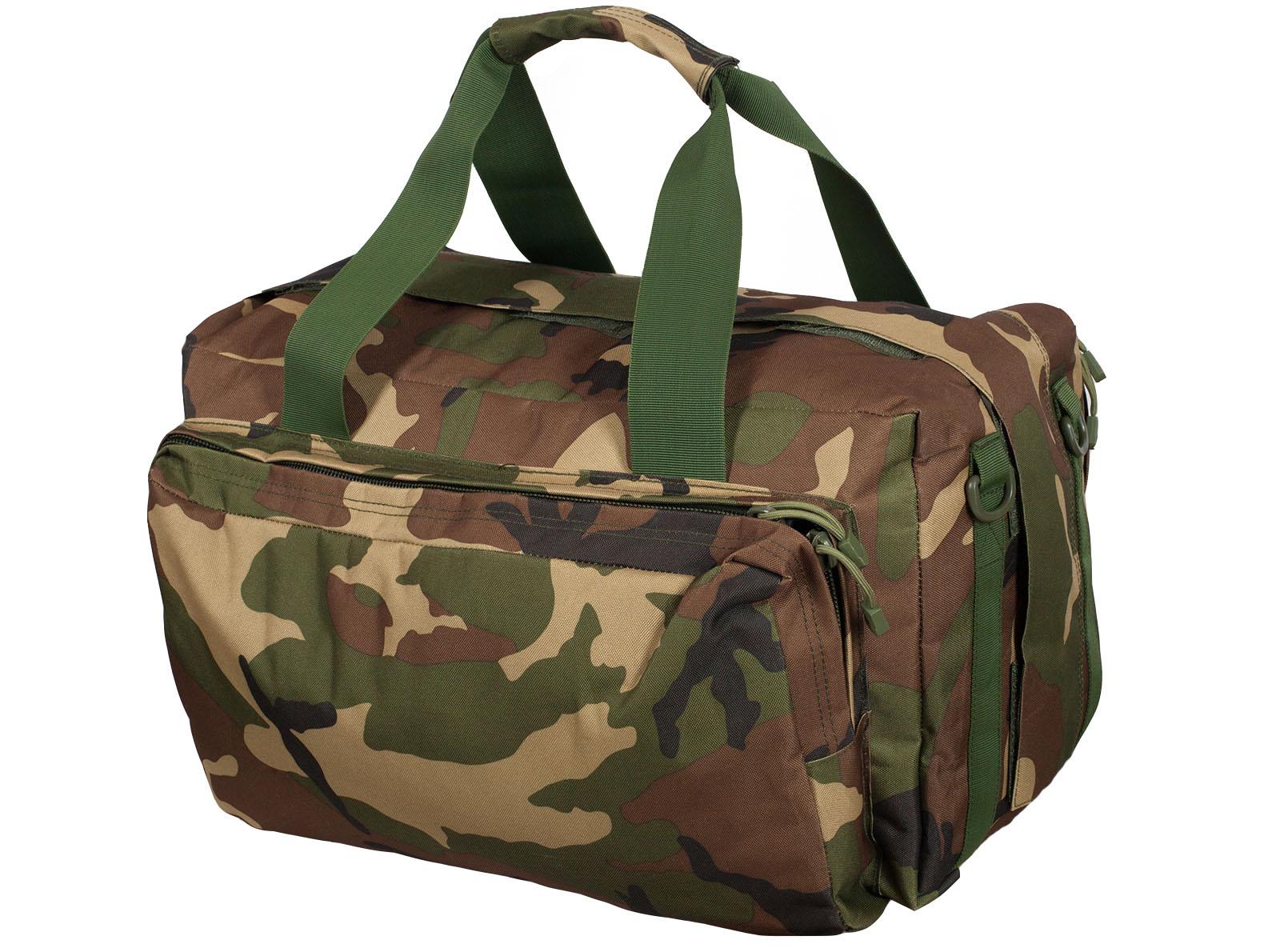 Практичная дорожная сумка-рюкзак с шевроном Охотничьего спецназа заказать по экономичной цене