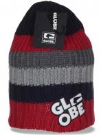 Практичная повседневная вязаная женская шапка бини бренда Globe отличный выбор