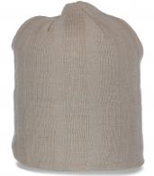 Практичная шапка на флисе. Теплый головной убор для модных девушек