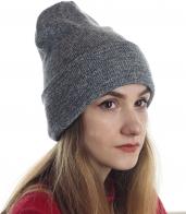 Практичная женская шапка с подворотом. Удлиненная модель - хит сезона. Чтобы быть стильной, больше на надо мерзнуть!