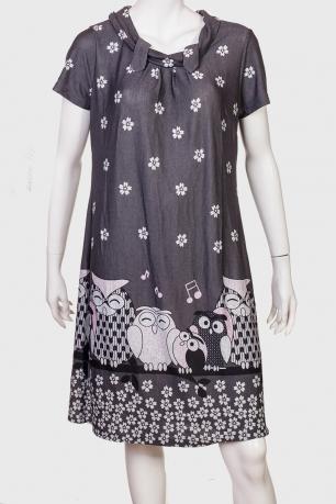 Прелестное платье с совами и цветами
