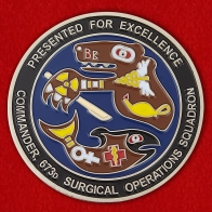 Presented by for Excellence Commander 673d Surgical Operations SQ Challenge Coin