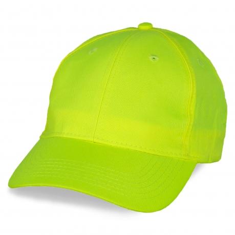 Промо-бейсболка ярко-лимонного цвета