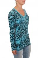 Женский пуловер с анималистическим принтом. Дизайнеры из Rock and Roll Cowgirl знают, чем впечатлить современную девушку