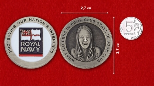 Royal NAVY Challenge Coin - comparative size