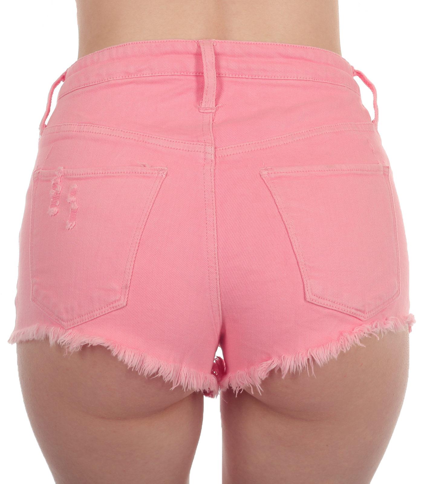 Недорогие джинсовые женские шорты с карманами – короткая летняя модель от ТМ MOSSIMO