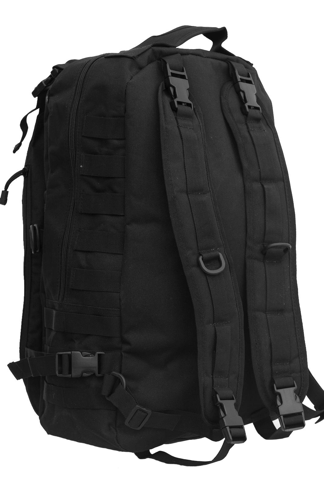 Недорогой рюкзак черного цвета с нашивкой «Военная разведка»