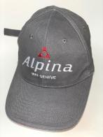 Серая бейсболка с белой вышивкой Alpina