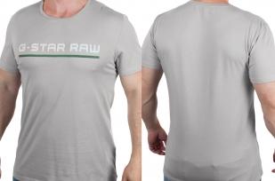 Серая футболка с надписью G-Star Raw с доставкой