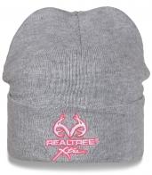 Серая мужская шапка Realtree с подворотом