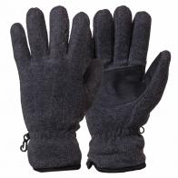 Серые флисовые перчатки