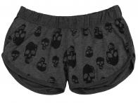 Серые шорты с черепом от Coco Limon для девушек с характером